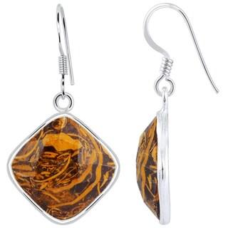 Orchid Jewelry 925 Sterling Silver 18 1/9 Carat Mariam Jasper Drop Earrings