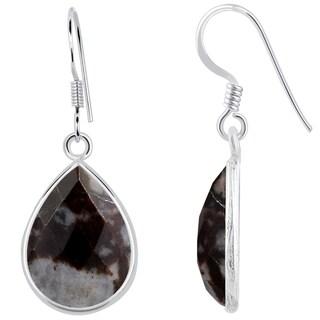 Orchid Jewelry 925 Sterling Silver 17 1/9 Carat Outback Jasper Teardrop Earrings