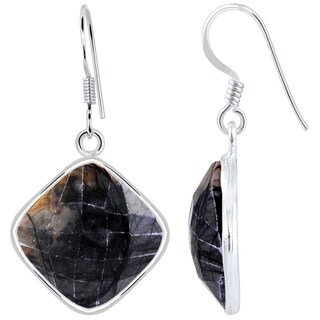 Orchid Jewelry 925 Sterling Silver 19 1/3 Carat Picasso Jasper Drop Earrings