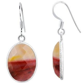 Orchid Jewelry 925 Sterling Silver 14 3/5 Carat Mookaite Jasper Gemstone Dangle Earrings