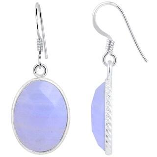 Orchid Jewelry 925 Sterling Silver 13 Carat Mahogany Obsidian Bezel Set Earrings