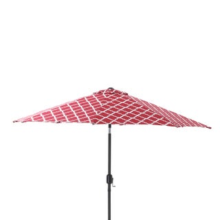 Pillow Perfect Kobette Red 9-foot Patio Market Umbrella