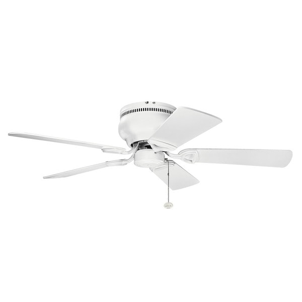 Kichler Lighting Stratmoor Collection 42 Inch Matte White Ceiling Fan On Free Shipping Today 13814093