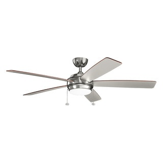 Kichler Lighting Starkk Collection 60-inch Polished Nickel LED Ceiling Fan
