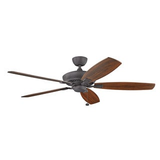 Kichler Lighting Canfield Collection 60-inch Distressed Black Ceiling Fan
