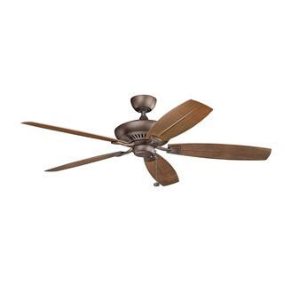 Kichler Lighting Canfield Collection 60-inch Weathered Copper Powder Coat Ceiling Fan