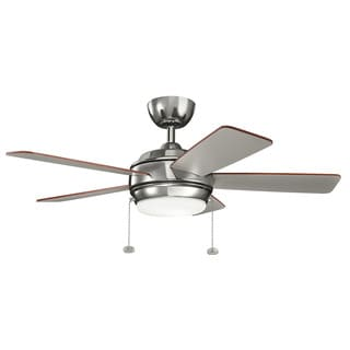 Kichler Lighting Starkk Collection 42-inch Polished Nickel LED Ceiling Fan