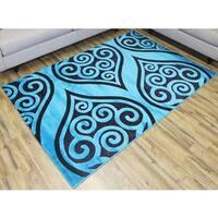 Bekmez Shonil Blue Area Rug (8' x 11')