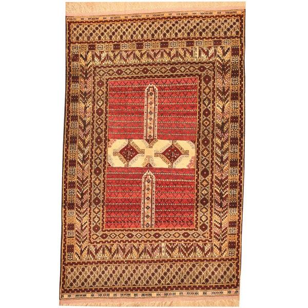 Shop Handmade Herat Oriental Afghan Tribal Turkoman Wool Silk Rug