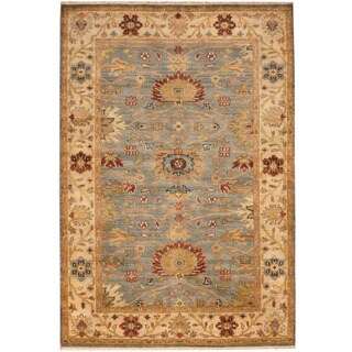 Herat Oriental Indo Hand-knotted Vegetable Dye Oushak Wool Rug (4' x 6')