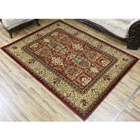 Bekmez Red Polypropylene Machine-made Belkis Area Rug (8'X11')