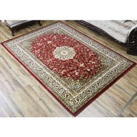 Belkis Red Polypropylene Machine-made Area Rug (8' x 11')