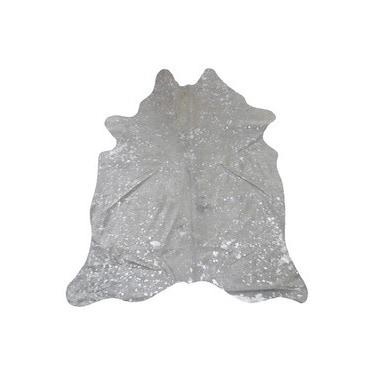 White/Silver Argentinean Cowhide Elegant Decor - 5' x 7'