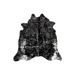 Black/Silver Argentinean Cowhide Rug - 5' x 7'