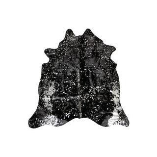 Black/Silver Argentinean Cowhide Rug