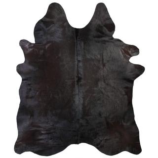 Black 100-percent Argentinean Cowhide Rug (5' x 7') - 5' x 7'