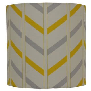 Decor Therapy Grey Cotton/Fabric Striped Lamp Shade