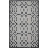 Rizzy Home Hand-Tufted Monroe Cream Wool & Viscose Rug (5' x 8')