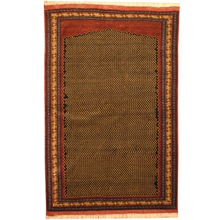 Handmade Vegetable Dye Turkoman Wool Rug (Afghanistan) - 3'10 x 5'9