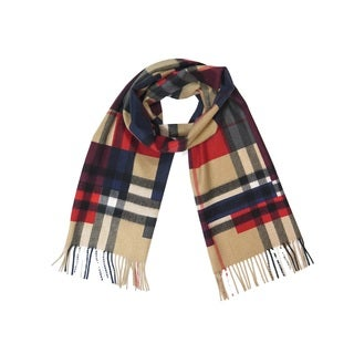Burberry Colorblock Reversible Check Cashmere Scarf