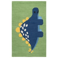 Rizzy Home Hand-tufted Play Day Green Rug (3' x 5')