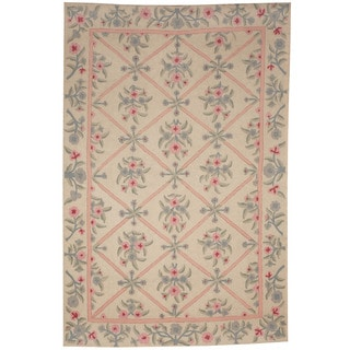 Herat Oriental Indo Hand-woven Tribal Needlestitch Wool Kilim Rug (3'10 x 5'10)