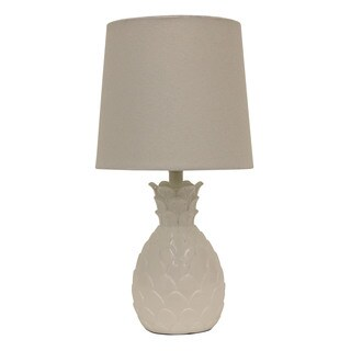 Decor Therapy White Resin Pineapple Table Lamp