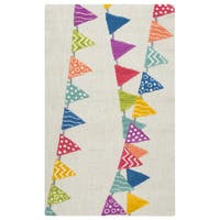 Rizzy Home Hand-Tufted Play Day Ivory Rug (3' x 5') - 3' x 5'