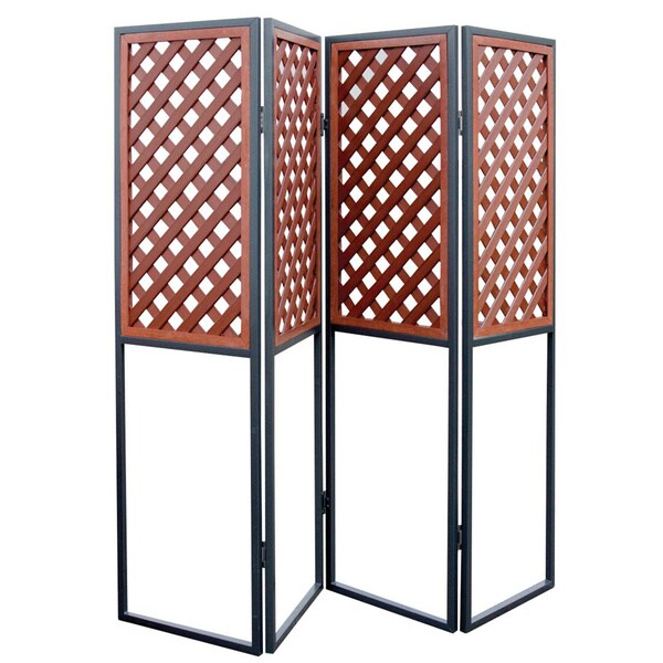 Mahogany Plastic/Metal Spa Privacy Screen