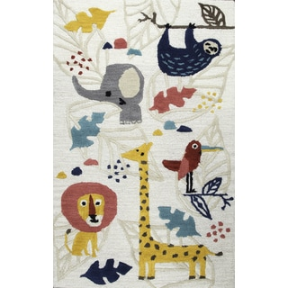 Rizzy Home Hand-Tufted Play Day Ivory Rug (3' x 5')