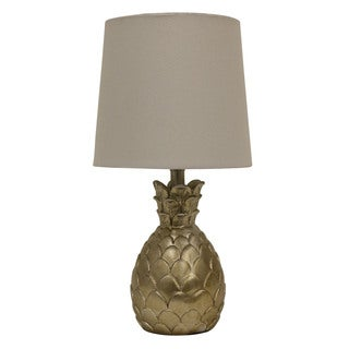 Decor Therapy Pineapple Silver Resin Table Lamp