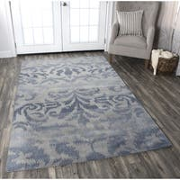 Rizzy Home Volare Grey Wool Hand-tufted Rug (5' x 8') - 5' x 8'