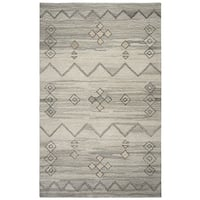Rizzy Home Suffolk Grey Wool Hand-tufted Area Rug (5' x 8')