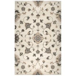 Makalu Beige Wool Hand-tufted Area Rug (5' x 8') - 5' x 8'