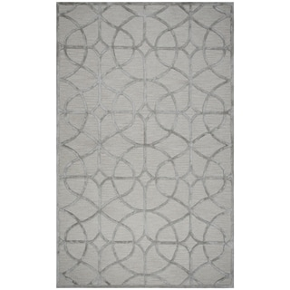 Rizzy Home Monroe Grey/Denim Wool/Viscose Hand-Tufted Rug (5'x8')