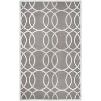 Hand-tufted Madison Light Gray Wool & Viscose Rug (5' x 8') - 5' x 8'