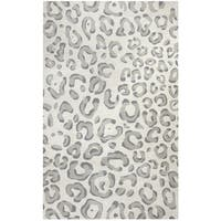 Rizzy Home Valentino Grey Hand-tufted Wool Rug (5' x 8') - 5' x 8'