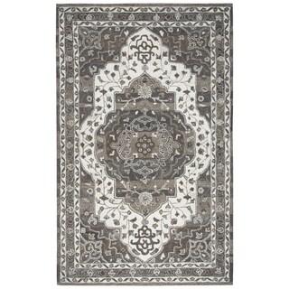 Makalu Beige Hand-Tufted Wool Rug (5' x 8') - 5' x 8'