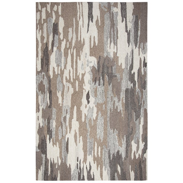 Rizzy Home Suffolk Brown Wool Hand-Tufted Rug (5' x 8') - 5' x 8'