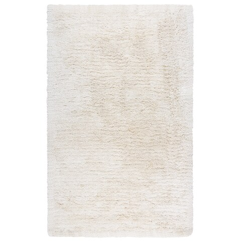 York Ivory Polyester Hand-tufted Area Rug (5' x 8') - 5' x 8'