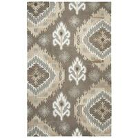 Rizzy Home Suffolk Brown Hand-tufted Wool Rug (5' x 8')