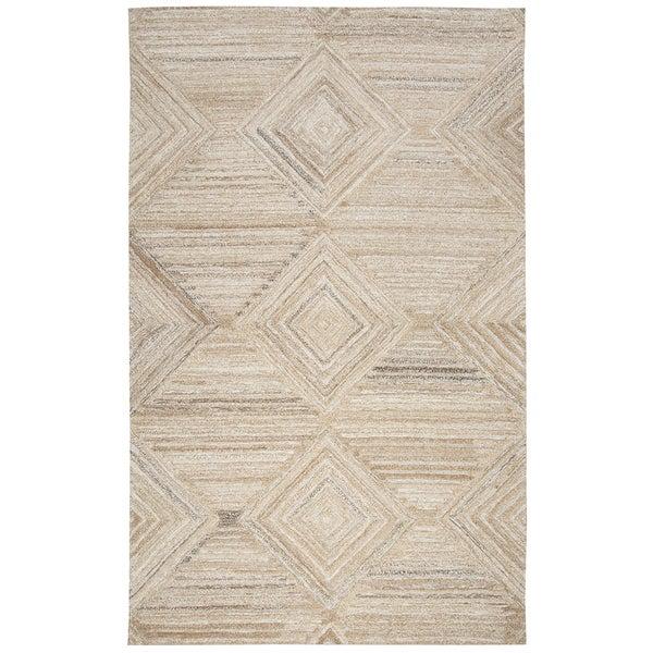 Suffolk Tan Wool Hand-Tufted Area Rug (5' x 8')