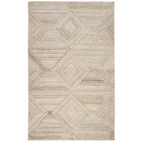 Suffolk Tan Wool Hand-Tufted Area Rug (5' x 8')