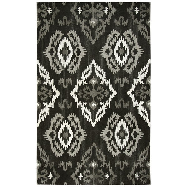Rizzy Home Hand-Tufted Suffolk Black Wool Rug (5' x 8')