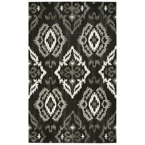 Rizzy Home Hand-Tufted Suffolk Black Wool Rug (5' x 8') - 5' x 8'