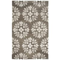 Rizzy Home Leone Brown Hand-Tufted Wool Rug - 5' x 8'