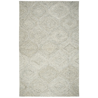 Rizzy Home Brindleton Beige Wool Hand-Tufted Rug (5' x 8')