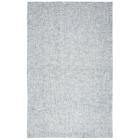 London Blue Hand-tufted Wool Rug (5' x 8') - 5' x 8'