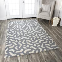 Rizzy Home Caterine Off-White Hand-Tufted Wool Rug (5' x 8')