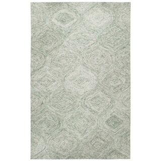 London Hand-Tufted London Green Wool Rug (5' x 8') - 5' x 8'